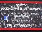 LOCKING WHEEL NUT REMOVAL  BRISTOL  BATH  GLOUCESTERSHIRE SOUTH WEST