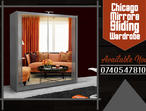 BRAND NEW STYLISH CHICAGO 2 DOOR MIRRORS SLIDING GREY COLOR WARDROBE WITH LED LIGHT IN 120CM SIZE, ALSO AVAILABLE IN WHITE,BLACK,OAK,WALNUT,WENGE COLO