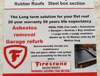 Flat roof projects garage conversions asbestos removal