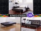 BRAND NEW UTALIAN SOFA BED IN BLACK COLOR