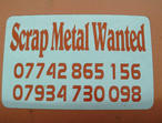 SCRAP CABLE  METAL  WANTED FREE REMOVAL PURCHASED PLUMBERS BUILDERS ELECTRICIANS