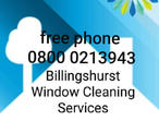 We provide and excellent window cleaning service in billingshurst and surrounding areas, we do outside and inside cleans, please call our free phone n