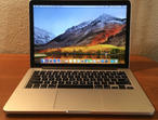"13"" MacBook Pro Retina 2.6 GHz 256 Solid State Drive 8 GB Ram"
