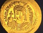 Ancient Byzantine Coin Solid Gold Solidus Tiberius A.D-583.