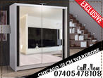 BRAND NEW CHICAGO 2 DOOR MIRROR SLIDING WARDROBE WITH LED LIGHT IN BLACK/WENGE/WHITE/WALNUT/GREY/OAK COLORS, 90/120/150/180/203/250CM SIZES
