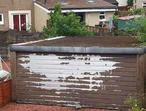 Garage conversion asbestos removal flat roofs recovered