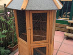 Outside parrot cage