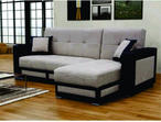 BRAND NEW TINA UNIVERSAL CORNER SOFA BED IN BROWN/CREAM COLOR