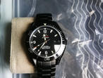 Replica watch in style of Omega Seamaster Matt Black!!
