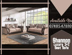 BRAND NEW COMFORTABLE SHANNON 3+2 SEAT SOFA IN BROWN/BEIGE COLOR,AVAILABLE IN BLACK/GREY