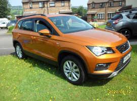 Seat ATECA, 2018 (18) Orange Hatchback, Manual Diesel, 15,000 miles