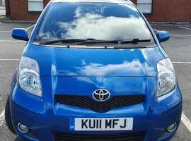 Toyota Yaris, 2011 (11) T-Spirit Nav Blue Hatchback, Manual Petrol, 71,500 miles