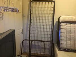 Single brown bed frame