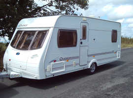 Lunar quasar EB 2006 four berth fixed end bed touring caravan, great condition. Lots of accessories.