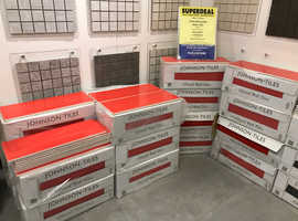 CERAMIC WALL TILES 400x150x10mm ( VIVID RED GLOSS) -ALL SAME BATCH & CALIBRE - Low price to clear