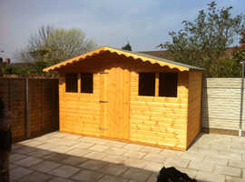 10x8 summer shed 4 windows 1ft canopy