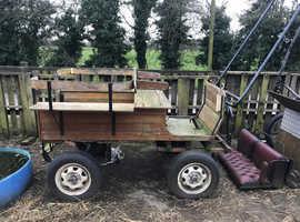 Four wheeled pony cart