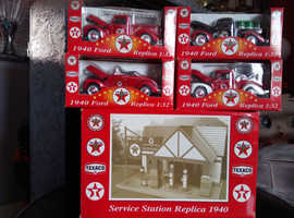 Vintage Texaco garage and cars collection