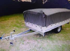 Air volution trailer tent
