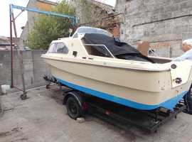 What A Boat SHETLAND 536 60hp o/b  2 stroke power tilt fully servlced Complete with road trailer