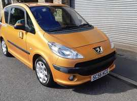 Peugeot 1007, 2007 (56) Orange Hatchback, Manual Petrol, 43,700 miles