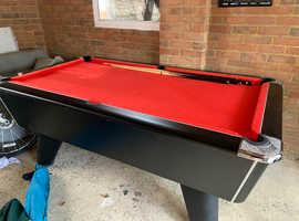 Pool table proper pub size