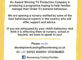 TV Programme - Do you have a child with challenging behaviour?