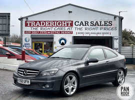 2010/60 Mercedes CLC200 1.8 Kompressor Sport finished in Tenorite Grey Metallic. 68810 miles