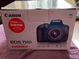 Canon eos 750d dslr camera with kit lens