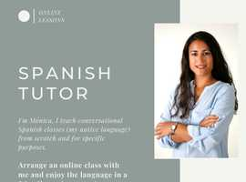 >>ONLINE SPANISH LESSONS WITH A NATIVE SPEAKER<<