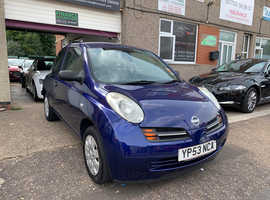 Nissan Micra, 2003 (53) Blue Hatchback, Manual Petrol, 36,000 miles