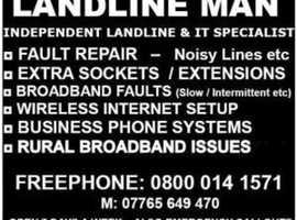 Telephone Engineer Gloucester Cheltenham Hereford Malvern - Landline & Broadband Repair, Sockets & Wifi