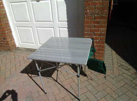 Aluminium folding camping table AS NEW