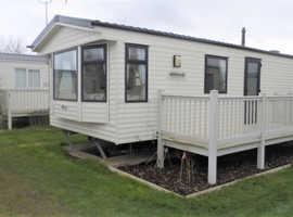 12ft wide bargain caravan complete with decking  Heacham, Norfolk.