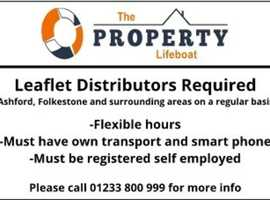 Leaflet Distributors Required