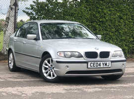 2004 (04) BMW 316 1.8 iES 4 door Saloon in SILVER, LONG MOT, Nice looking car, CD Player