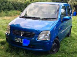 Vauxhall Agila, 2000 (X) Blue Estate, Manual Petrol, 112,245 miles