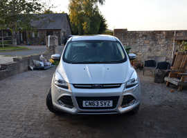 Ford Kuga, 2013 (63) Silver Hatchback, Automatic Diesel, 70,541 miles