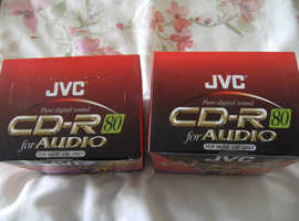 20 JVC RECORDABLE CD'S WITH CASES ( BRAND NEW )