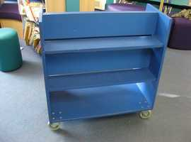 Double Sided Mobile Book Trolley / Browser Unit for Early Years  / KS1