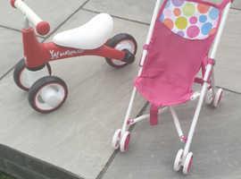Baby walker bike and buggy
