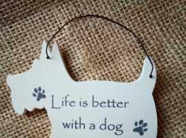 JOB LOT 23 DOG AND BONE MAGNET Wooden Hanging Plaque Gift Novelty Keepsake Sign