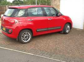 Fiat 500l, 2013 (13) Red MPV, Manual Petrol, 35,500 miles