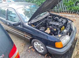 Ford SIERRA GHIA 4X4, 1989 (F) Black Estate, Manual Petrol,  miles spares or repairs project car.
