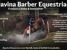 Freelance Rider & Instructor Available