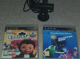 Playstation 3 move motion controller,camera & games !