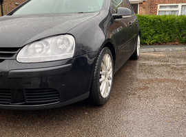 Volkswagen Golf, 2007 (57) Black Hatchback, Manual Diesel, 202,000 miles