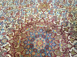 Beautiful Antique Hand Knotted Oriental Carpet with Multi Coloured Floral Design 397cm X 296cm