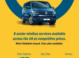 AIRPORT TRANSFERS RACE DAY NIGHT OUT MINIBUS SERVICE in Leeds Hudersfield Bradford west yorkshire