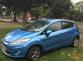 Ford Fiesta, 2012 (12) Blue Hatchback, Manual Petrol, 52,000 miles